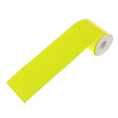 Imported 3M Warning Reflective Safety Tape Adhesive Sticker for Truck Car Yellow  available at amazon for Rs.170