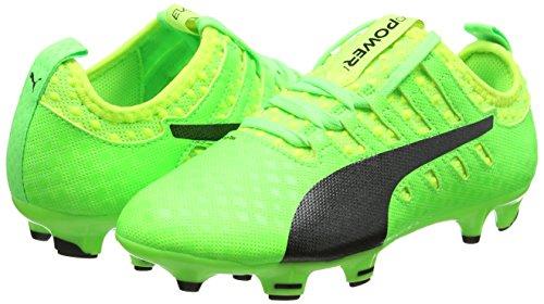 Puma Unisex Kids  Evopower Vigor 1 FG Jr Football Boots   Green Gecko Black-Safety Yellow 01   1 5 UK