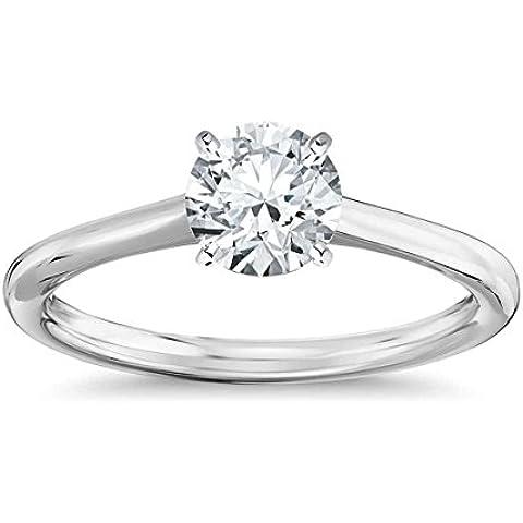 Lilu Jewels 1C.T T.W. Moissanite anello di fidanzamento solitario in argento Sterling 925