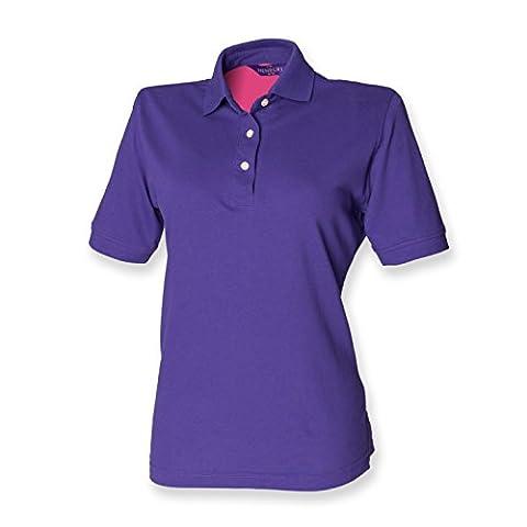 Henbury ladies classic polo in Purple 12