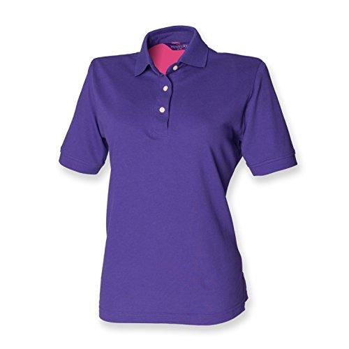 Henbury - Polo -  - Polo - Col polo - Manches courtes Femme -  Violet - L