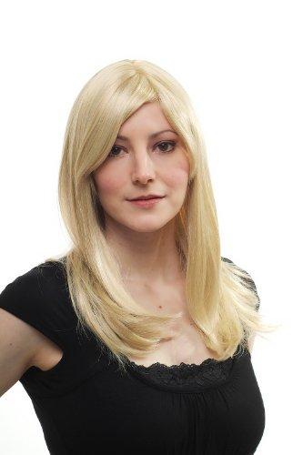 Preisvergleich Produktbild Wig me up Blonde Perücke Seitenscheiten gesträhnt 3120-611 50cm