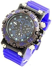 V6 Montre Homme MONTRE2806 - Reloj , correa de silicona color azul