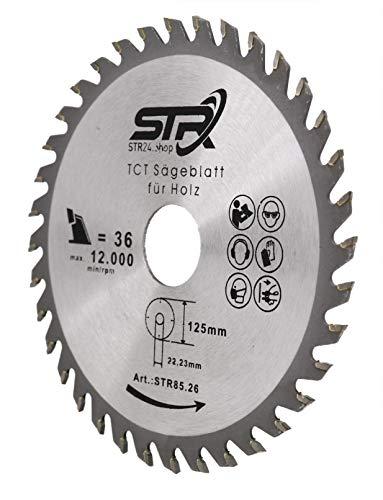 Sägeblatt Hartmetall bestückt 125mm für Holz 125 x 22,2 x 36 Zähne TCT-Sägeblatt Kreissägeblatt Trennscheibe für Holz