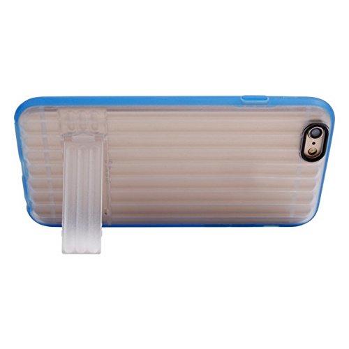 GHC Cases & Covers, Vertikale Streifen Stil Transparente Rückseite Abdeckung Schutzhülle mit Halter für iPhone 6 ( Color : Red ) Blue
