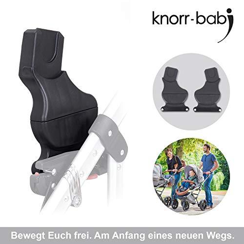 Knorr-Baby 35094Adaptateur pour système coulissant-Classico, Voletto, noxxte, VW carbone pour siège auto Maxi Cosi et Cybex