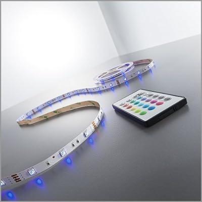 LED Stripes, LED Stripe, LED Lichterkette, LED Band, LED Streifen, LED Leiste, LED Lichtleiste, LED Bänder, Lichterkette LED, LED Lichtschlauch, weiß, inkl. Fernbedienung, inkl. Farbwechsel, warmweiß, 5m von B.K.Licht
