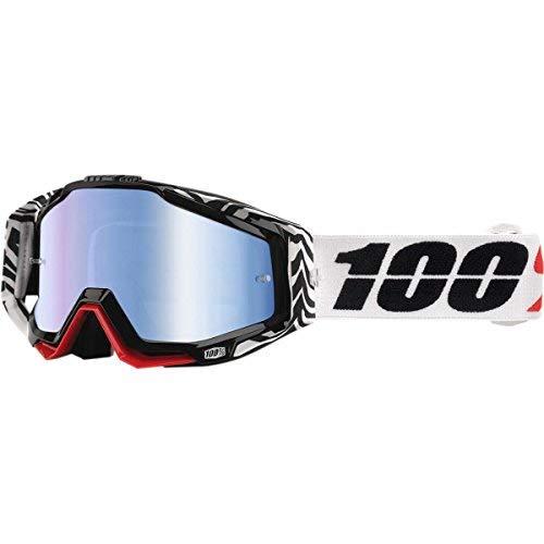 Inconnu 100% racecraft-Zoolander Maske-MTB Unisex Erwachsene, schwarz/rot/weiß