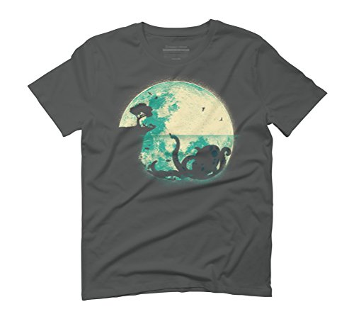 The Big One Men's Graphic T-Shirt - Design By Humans Anthracite