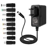 EFISH EFISH Adaptador de alimentación 12V 2A | Adaptador de enchufe de CA DC de 1Amp para electrodomésticos Cámara CCTV,Teclado Yamaha,Enrutador,Eje,I
