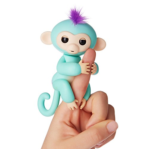 Wow Wee Fingerlings Zoe, Mini Scimmietta Interattiva, Azzurro