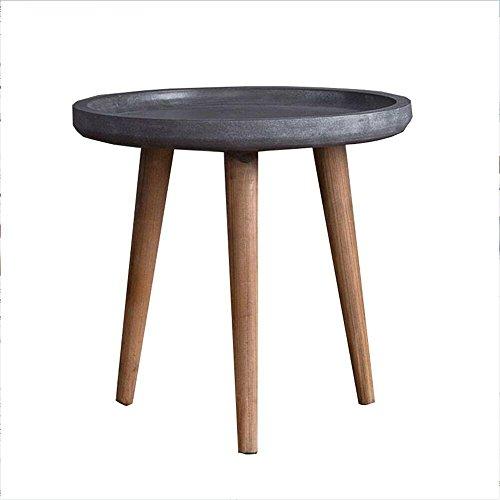 Yuan Tables Basses Table Basse Salon Simple Table Ronde en Bois Balcons Mini Table Basse Table d'appoint en tête de lit Tables en Bois de qualité avec Pied en Bois, Facile à Assembler /&