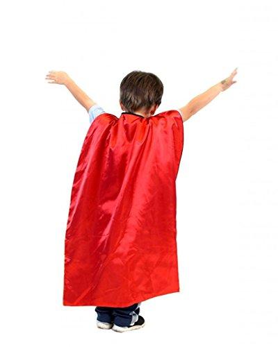 Cape Reversible Und Kostüm Rot Schwarz - Reversible Child Schwarz and Rot Superhero Kostüm Cape (Child)