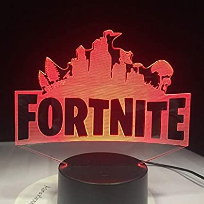Lixiaoyuzz Lámpara De Noche 3D Fortnite Game Logo  Led Lamp Light Rgbw Changeable Mood Lamp 7 Colors Light Base Cool Night Light For Birthday Holiday Gift