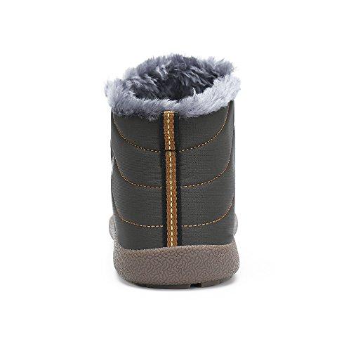 Saguaro Mens Donna Inverno Stivali Outdoor Caldo Foderato Stivali Da Neve Stivali Invernali Grigi