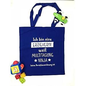 Geschenk Erzieherin Baumwollbeutel für die Erzieherin Multitasking Ninja