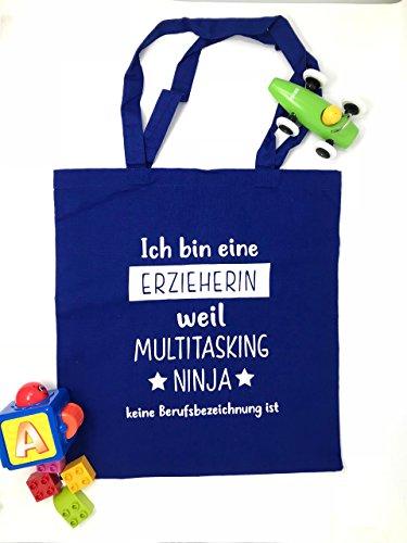 Baumwollbeutel für die Erzieherin Multitasking Ninja ()