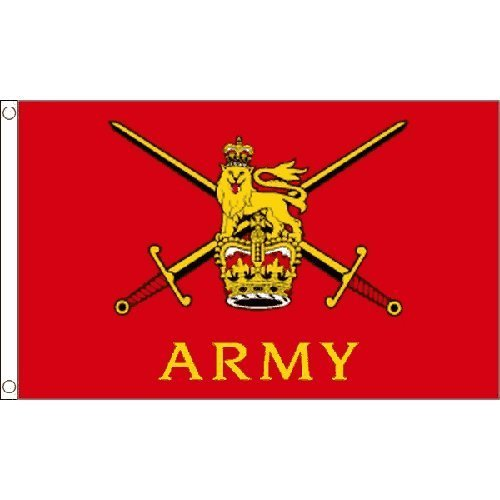 British Army Large Flag 8Ft X 5Ft Armed Forces Day Decoration Banner by Unknown -