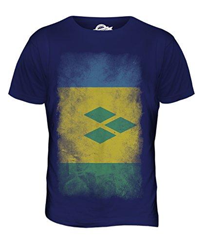 CandyMix St. Vincent Und Die Grenadinen Verblichen Flagge Herren T Shirt Navy Blau