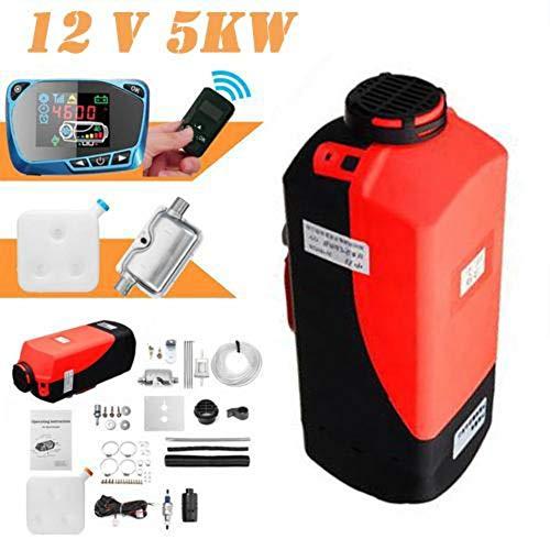 shewt Riscaldatore per Auto, 12V / 24V 5KW Riscaldatore Diesel ad Aria Monitor LCD Termostato Parcheggio Sbrinatore del riscaldatore del Ventilatore con Telecomando per Auto/Camper/Barca/Bus