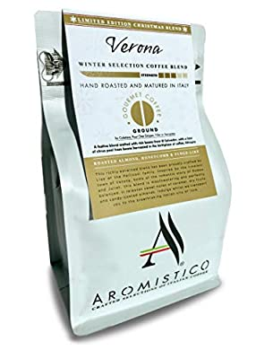 AROMISTICO | Limited Edition Festive Roast | Premium Italian Ground Coffee | Verona Christmas Blend: Roasted Almond, Honeycomb and Fudge-Like from Arca S.r.l