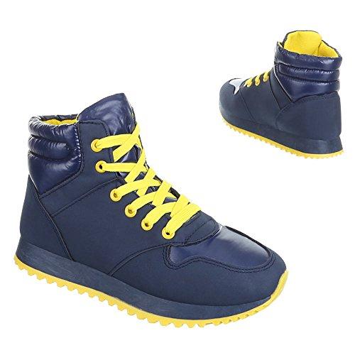 Chaussures femme, 210, loisirs chaussures sneakers chaussures de sport Jaune - Gelb Blau