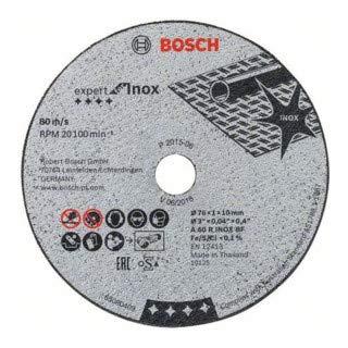 5x Bosch Trennscheibe Expert for Inox 76mm