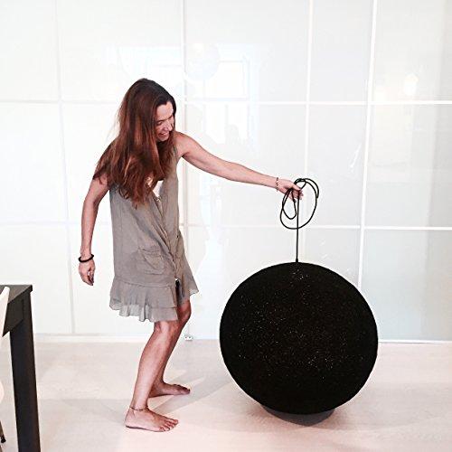 Lámpara de sobremesa esfera decorativa de hilo de algodón, artesanal, hecha a mano 60 cms.