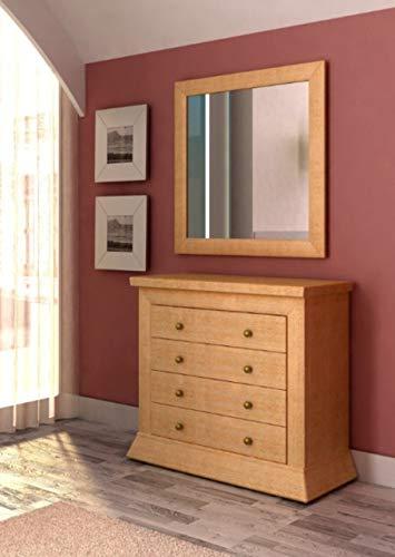 Soma Sideboard Kommode Quadro, 5 Schubladen, Pinie massiv (BxHxL) 99 x 89 x 45 cm Pinie karamell