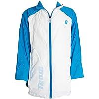 Prince Jr Warmup Chaqueta de Tenis, Unisex Niños, Blanco/Azul, 12 USA