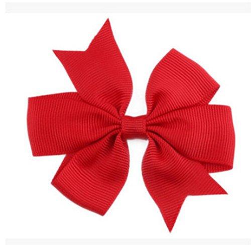 Demarkt Niedlich Schleife Haarclips / Haarspangen Haarschmuck Ribbon Haar-Clips Für Mädchen,Rot