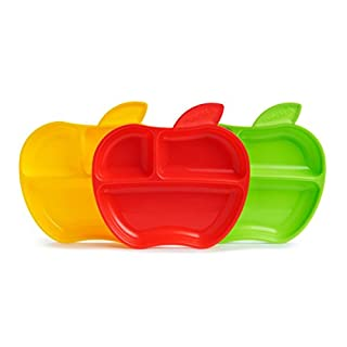 Munchkin Platos con compartimentos Apple, 3 unidades (B00QTXZO62) | Amazon Products