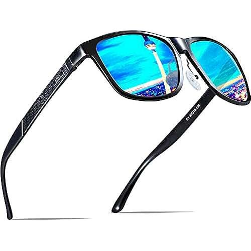 c4b71bdf31 ATTCL Hombre Wayfarer Gafas de sol Polarizado Al-Mg Metal Su