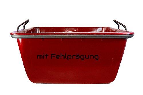 UvV®-FMK 2. Wahl - rot - Fertigmörtelkübel, Mörtelwanne 200 Liter, kranbar, TüV geprüft (mit Fehldruck, Fehlfarben)