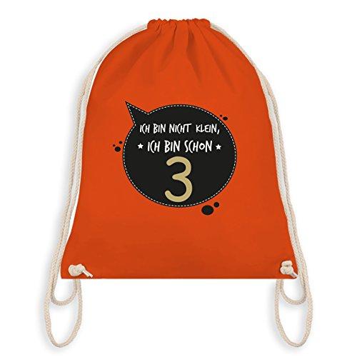 Geburtstag Kind - Ich bin nicht klein, ich bin schon 3 - Turnbeutel I Gym Bag Orange
