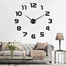 SOLEDI Reloj de Pared 3D DIY Reloj de Etiqueta de Pared Decoración Ideal para la Casa