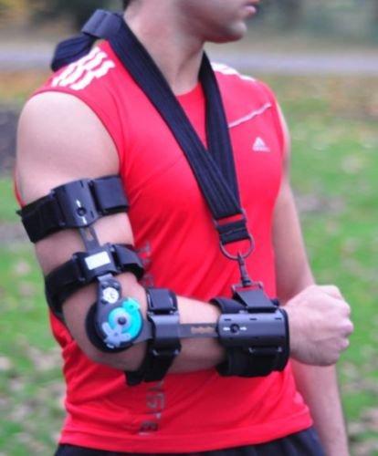 Ellenbogen Rom Armschlinge mit Scharnieren, bei Zerrungen/Verstauchungen Post OP Unterstützung Ruhigstellung–B4 (Neo Ärmel Tennis-ellenbogen)