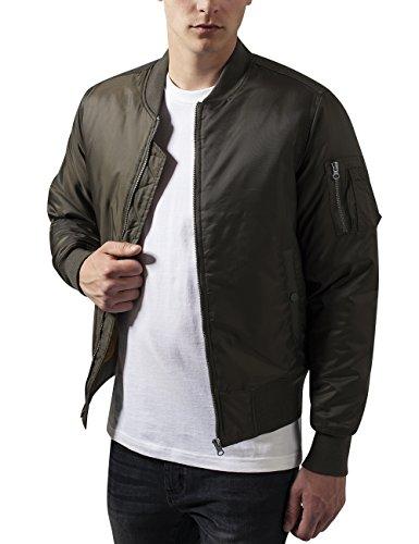 Urban Classics Basic Bomber Jacket, Blouson Homme Vert - Grün (darkolive 551)