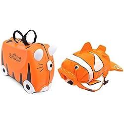 TRUNKI Juego de maleta y mochila, naranja (Naranja) - 0260-GB01