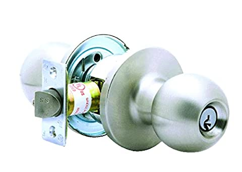Global Door Controls GLC-5170B-626 Light Duty Commercial Cylindrical Dummy Knob In Brushed Chrome
