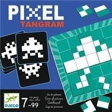 Djeco- Juegos de Acción Y Reflejos Educativos Pixel Tangram, (15)