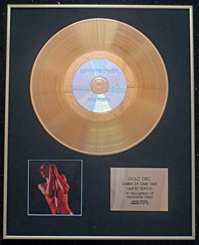 Century Presentations -- - The Stooges (Iggy Pop) - Exklusive, Limitierte Edition 24 Karat Gold Disc - Raw Power