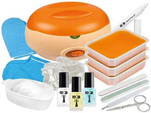 Premium SPA Pflege SET XL - PARAFFINBAD für Hände und Füße + reichhaltiges NagelPflege Zubehör -
