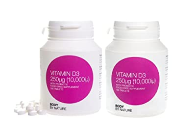 Body by nature vitamins, Supplements, D-3 10,000iu 2 Bottles of 180 = 360 Tablets D3 10000 iu, Buy our UK manufactured Quality Tablets. Clean pure and NO Fllers or Bulkers like you will find in the Liquid D3 Sold by other sellers. You want it fast, so we