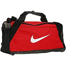 Nike Brsla Duff Bolsa, Unisex Adulto, Rojo/Negro, S