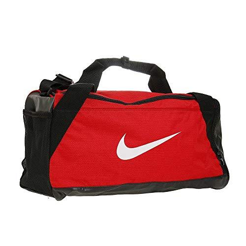 Nike Nk Brsla S Duff Bolsa de Deporte, Hombre, Rojo (University Red/Black / White), Talla Única