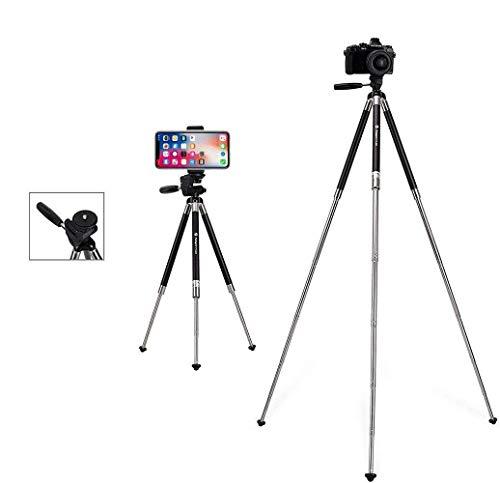 Fotopro FY-583 Stativ für iPhone, 39,5 Zoll, Aluminium, für Kamera, Smartphone und GoPro