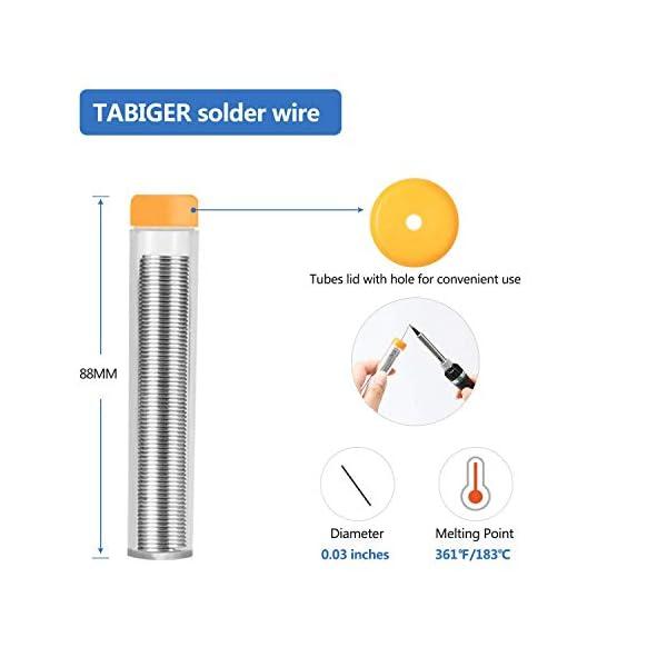 Kit del Soldador Tabiger, Soldador Electrico con temperatura ajustable