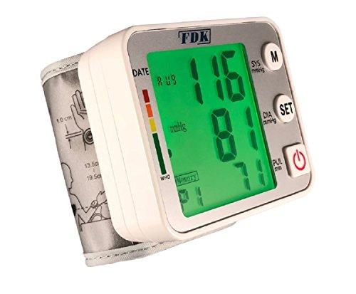 FDK FT-B31Y Blutdruckmessgerät für das Handgelenk, vollautomatisch, mit 3-farbiger Hintergrundbeleuchtung, mit Anzeige und unregelmäßiger Herzschlagerkennung