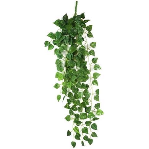 RHX - RHX falso artificial colgante hojas de la planta de vid Garland Home Garden decoración de la pared